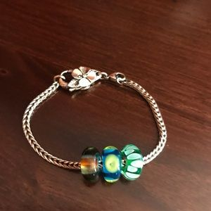 Troll Bead Sterling Silver Bracelet